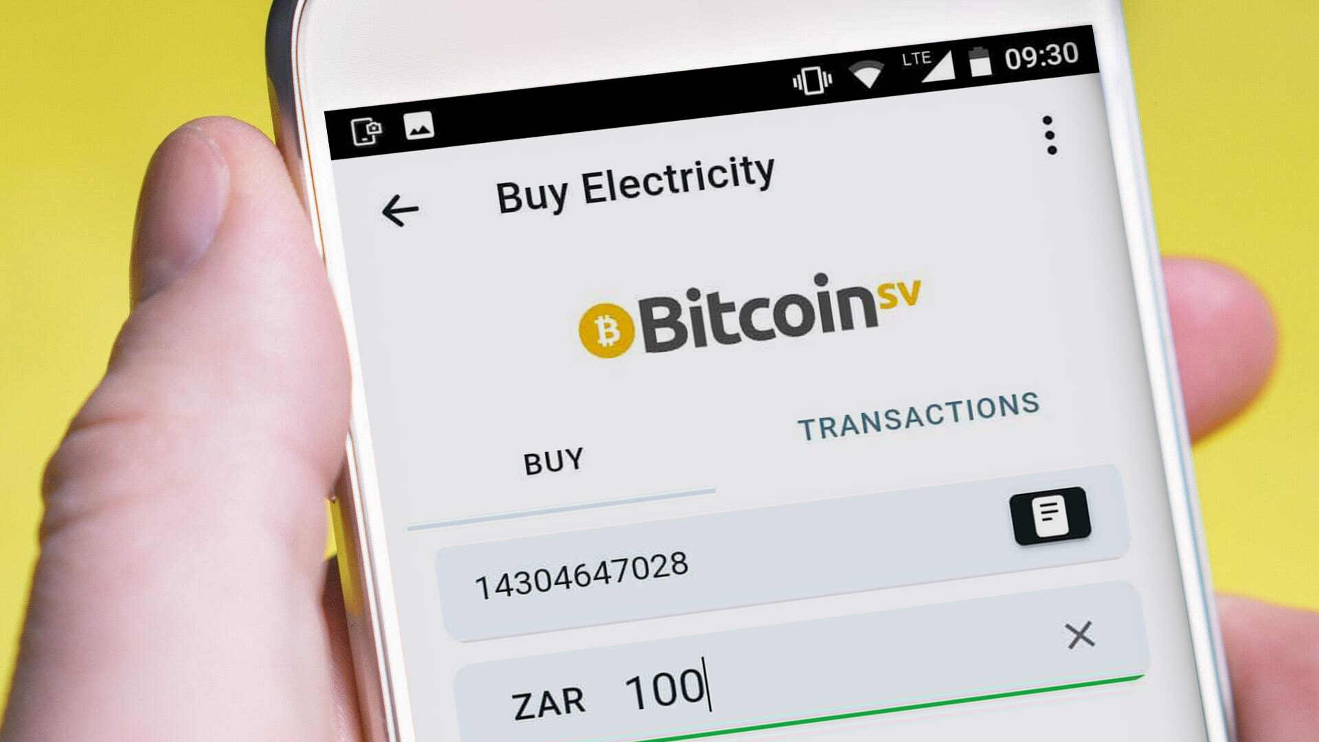 Being able to buy electricity, data and airtime with Bitcoin SV using the Centbee app